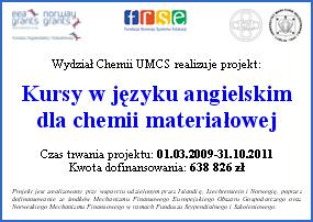 FSS; Kursy w języku angielskim dla chemii materiałowej