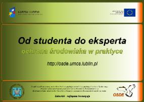 EFS POKL: Od studenta do eksperta - Ochrona środowiska w praktyce