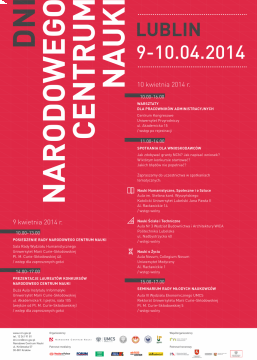 Dni Narodowego Centrum Nauki 2014 r.